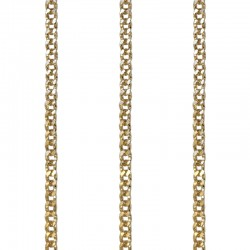 Medium Linked Chains With Etched Design