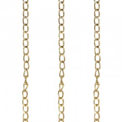 X-Large Linked Chains With Etched Design