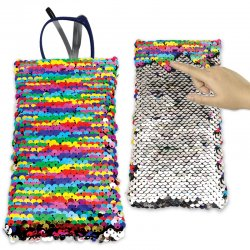 Reversible Sequin Square Top Pouch
