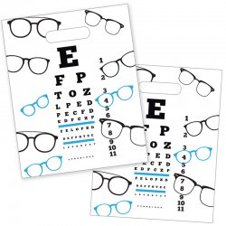 Black/Blue Eye Chart Die Cut