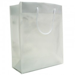Frosted Plastic Bag - White