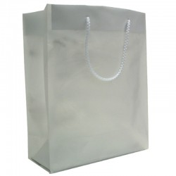 Frosted Plastic Bag - Silver