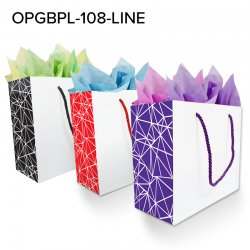 Paper Laminated Abstract Line Gusset
