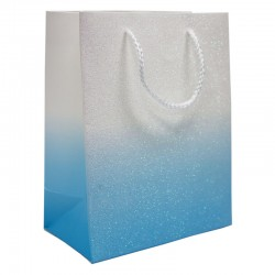 Paper Laminated Glitter Bag – Blue