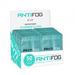 Anti-Fog Cleaning Cloth - 50 Pack Counter Box