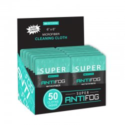 Super Anti-Fog Cleaning Cloth - 50 Pack Counter Box